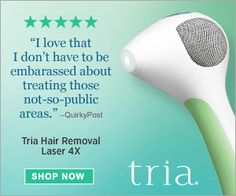 Tria Laser Handheld Hair Removal System - This advanced system was created to bring the laser hair removal system home to you. You do not have to stress over making appointments and keeping sessions with a hair removal expert.