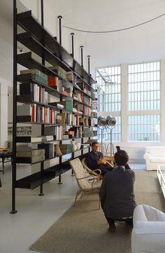 We have moved - Raumteiler Home Office Design, Home Interior Design, Interior And Exterior, House Design, Interior Architecture, Design Industrial, Industrial Loft, Office Dividers, Room Divider Shelves