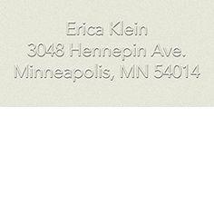 Return address embosser