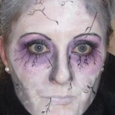 Halloween makeup #scare2win an iPad courtesy of @Halloween Alley HQ