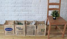 100% Natural lino Eco amigable cesta del almacenaje, depósito, cestillo lino Sack, canasta reciclar