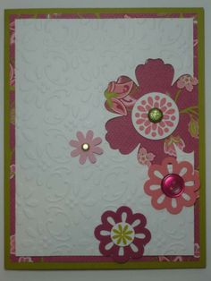 FLORAL FANTASY handmade Stampin Up card.