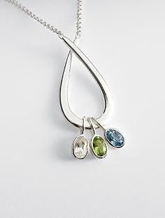 family embrace birthstone necklace