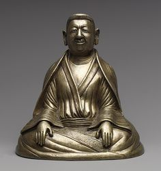 The Great Teacher Marpa, early 12th century  Tibet  Bronze with copper and silver inlays and gold plugs