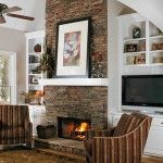 Indoor Stone Fireplace Ideas For Nature-Inspired Home natural Fieldstone Fireplace – home furnishing ideas