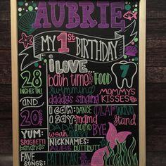 Pink Lemonade Chalkboard Poster Pink by PixelPerfectionParty Mermaid Birthday, 1st Birthday Girls, First Birthday Parties, First Birthdays, Birthday Ideas, Half Birthday, Summer Birthday, 1st Birthday Chalkboard, Birthday Board