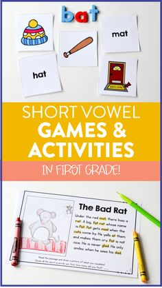 CVC words are some of the first words we teach our students to blend together to read! It is a very difficult thing to learn as our students take their knowledge of letter sounds and go on to learn how to read. To help my students practice these skills, I created a bunch of different activities for all the short vowels. I thought I would share some of them with you!