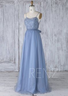 Bridesmaid Dress Steel Blue Tulle DressWedding