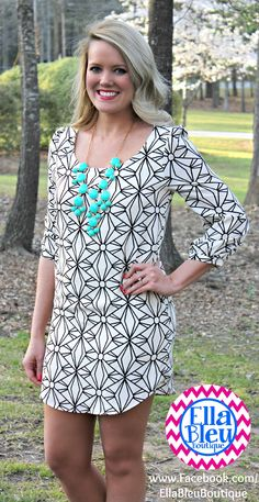 Love this abstract pattern! Shop on Boutique Clothes for LESS on FB at Ella Bleu! www.Facebook.com/EllaBleuBoutique