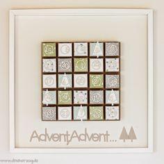 Schönes aus Papier handgemacht!: Ein Advents-Wandkalender