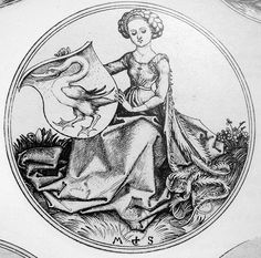 MS.WomanSwan(BMcatG57).jpg (1148×1134), interesting, the swan looks similar to the one in my family's shield.