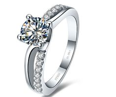 1 Ct. Round Cut VVS1 / G Simulated Diamond Engagement Ring + Free gift (Item# ER0056-01000314)