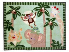 NoJo Jungle Babies Rectangular Rug NoJo