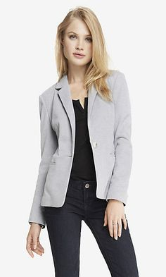 aabc01c687 24 INCH TEXTURED KNIT BLAZER Fashion Wear