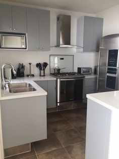 My beautiful grey kitchen. Love it!