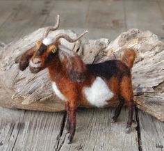 Needle+Felting+Kit+Goat+To+Follow+Goat+Video+by+SarafinaFiberArt,+$22.00