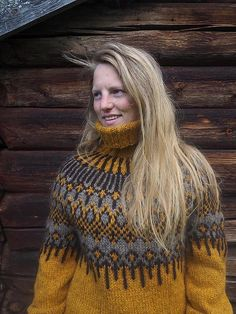 Icelandic Sweaters, Nordic Sweater, Shrug Cardigan, Textiles, Yellow Sweater, Sweater Design, Needle And Thread, Winter Outfits, Knit Crochet