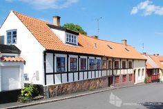 Fachwerkhaus im Zentrum von Allinge, Insel Bornholm #fachwerkhaus #allinge #insel #bornholm #daenemark