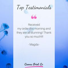 """Top Testimonials from our happy customers ❤️ """"Received my order this morning and they are all stunning! Framed Prints, Canvas Prints, Wood Print, Happy, Top, Beautiful, Photo Canvas Prints, Ser Feliz, Happiness"""