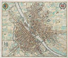 The Antiquarium - Antique Print & Map Gallery - Matthäus Merian - Paris Hand-colored copperplate engraving