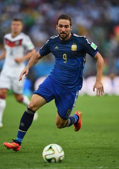 Gonzalo Higuain of Argentina against Germany in the 2014 World Cup Finals