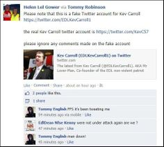 Helen Gower has the unfortunate duty of informing the #EDL that some people on Twitter, don't like them very much,