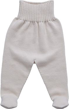 Baby Organic Cotton Knitted Leggings - Girl   Childrensalon