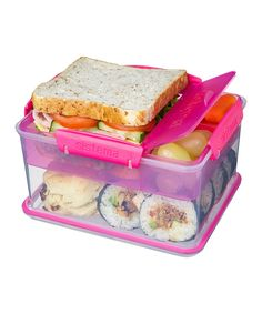 This Sistema Pink Lunch-to-Go Tub by Sistema is perfect! #zulilyfinds