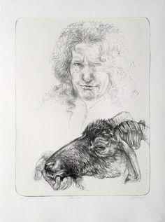 Diane Victor - The Usher (self portrait with goat) South African Artists, Artist Art, Creative Inspiration, Printmaking, Art Drawings, Victor Victor, Fine Art, Prints, Goat