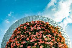 Spaceship Earth towers over the Flower
