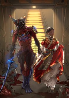 [commission]Excalibur and his operator by lotushim554.deviantart.com on @DeviantArt