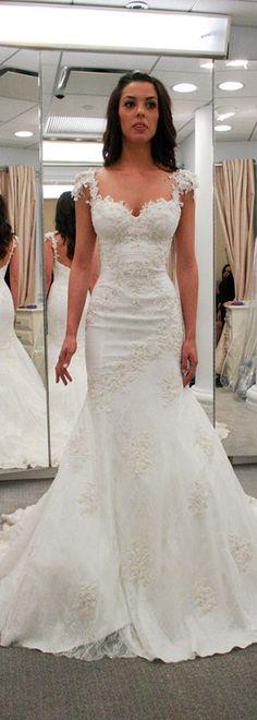 Lavish Tulle & Satin Sweetheart Neckline Mermaid Wedding Dresses With Beaded Lace Appliques