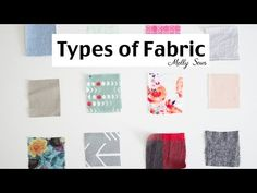Fabric Types - Material for Sewing - YouTube