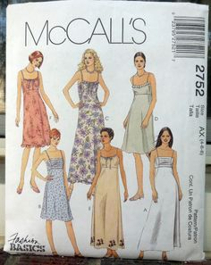 McCall's 2752  Spaghetti Strap Dresses  Formal by Clutterina