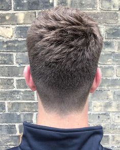 The Best Neckline Haircuts Blocked Rounded Tapered Mens Hairstyles Popular Mens Hairstyles, Cool Hairstyles For Men, Haircuts For Men, Mens Haircut Back, Short Hair Cuts, Short Hair Styles, Gents Hair Style, Tapered Haircut, Slicked Back Hair