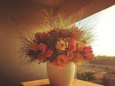 Safari Sunrise Arrangement  #Flowers #Protea