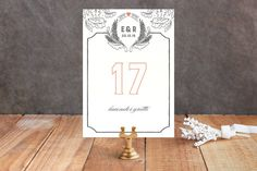 Fairytale Frame Wedding Table Numbers