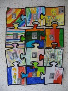 Le puzzle de la classe (activité collective de rentrée)
