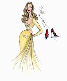 Hayden Williams Fashion Illustrations | Hollywood Icons: Veronica Lake by Hayden Williams