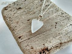 Frosty Genuine Naturally Heart Shaped Sea by MadeByTheBaySeaGlass