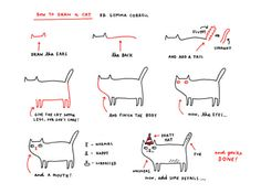 How to draw a Cat via @Gemma Correll.