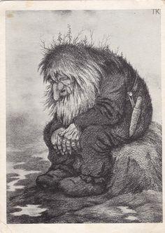 Troll wonders how old he is - Trollet som grunner på hvor gammelt det er - Теодор Киттельсен