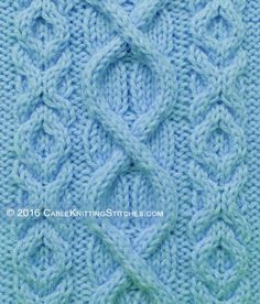 This cable pattern uses a combination of Superimposed Cable and Hugs and Kisses stitch