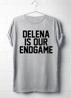 Delena ist unser Endspiel, die Vampir Tagebücher T-Shirt, Delena, Damen T-Shirt, Tvd, von 13SameOnly
