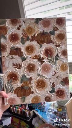 Flower Art Drawing, Art Painting Gallery, Mini Canvas Art, Art Drawings Sketches Simple, Acrylic Art, Art Tutorials, Diy Art, Watercolor Art, Paintings