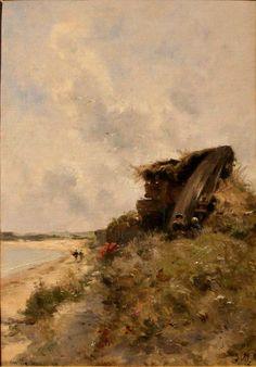 Marie Joseph Léon Clavel  (French, 1850–1923) Clavel-Dans_La_Hague.jpg (806×1157)