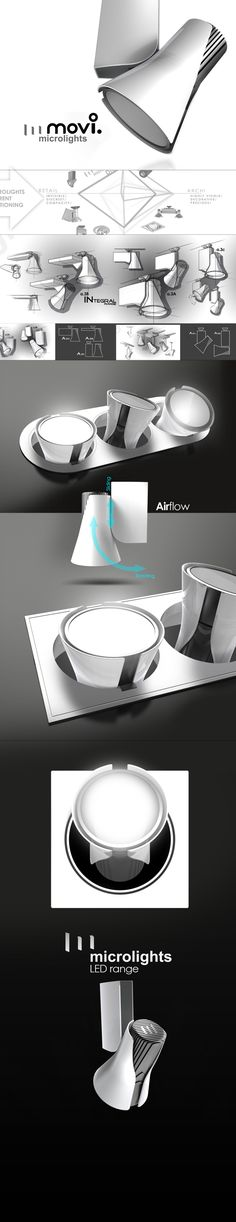LED SPOTLIGHT by IOTA design, via Behance