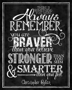 Chalkboard Art  Quote by Christopher Robin by ToSuchAsTheseDesigns