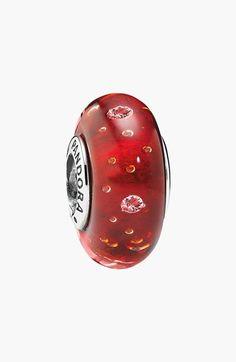 Women's PANDORA 'Effervescence' Murano Glass Charm - Red/ Silver