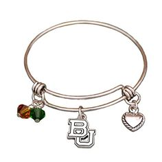Go Bears! Baylor Bears Wire Memory Bracelet with Charms J and D Jewelry and More http://www.amazon.com/dp/B01575A1R4/ref=cm_sw_r_pi_dp_RHJ1wb0SS2BF6